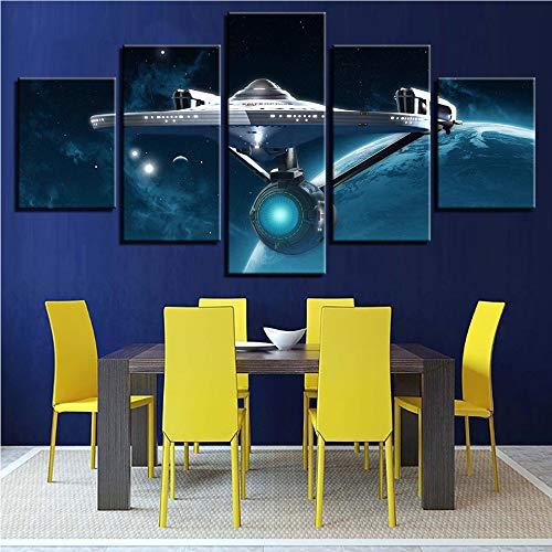 Meaosy Wandkunst Hd Druckt Bild Home Decoration Star Trek 5 Stücke Film Leinwand Malerei Für Wohnzimmer Modularen Bilder Kunstwerk Poster-40X60/80/100Cm