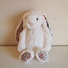 Jellycat [Jerry Cat] Medium Cream Bashful Blossom Bunny Rabbit Stuffed White