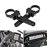 Auxbeam Light Bar Mounting Bracket Kit 1.5 Inch Bull Bar Roll Cage Clamps Mount Clamps Universal Holder Kits for Led Hid Light Bar Jeep Wrangler Trucks Off-Road (2 pcs)