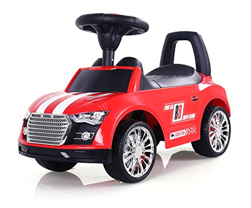 MILLY MALLY 2435–Antideslizante Auto Racer, Modelo Coches, Rojo