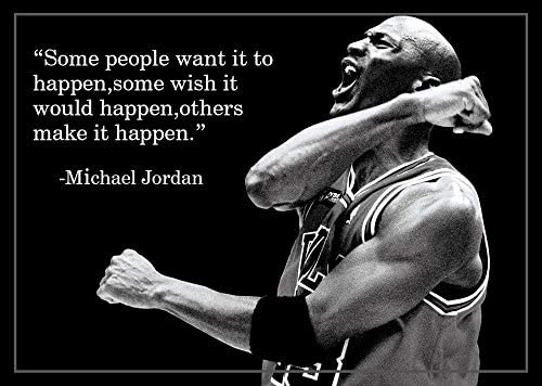 oceansEdge11 Some People Want Michael Jordan Quotes Poster Print 16x25 inch 40cmx63cm Frameless product image