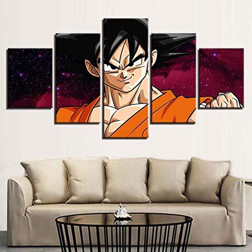 Tong99 Muurschilderingen Moderne prints Modulaire Afbeeldingen 5 Postersets Anime Home Decoration Schilderen Gordijn Canvas L-30x40 30x60 30x80cm Geen lijst