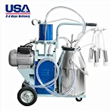 Electric Milking Machine 10-12 Cows per Hour Milking Machine, with 25L...