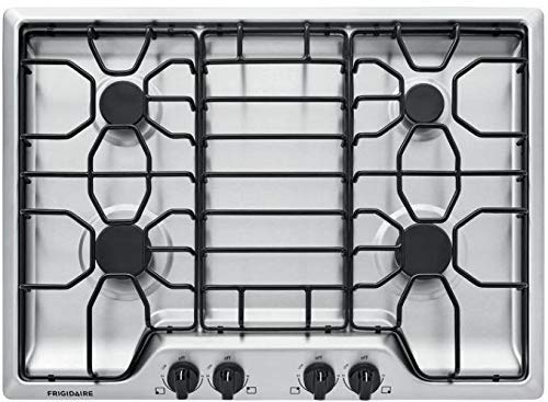 """Frigidaire 30"""" Stainless Steel 4 Burner Gas Cooktop FFGC3012TS"""