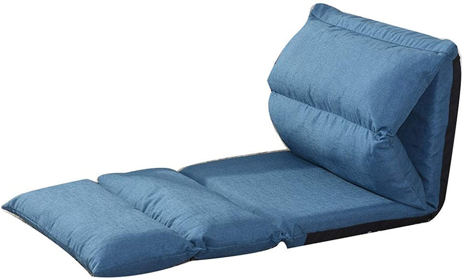 Office Lazy Sofa Creative Single Foldable Bed Chair  Washable Rectangular Sofa Computer Lounge Chair Multi-Speed Adjustable (color   bluee)