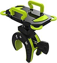 ihens5 Bike Phone Mount, Motorcycle & Mountain Bike Handlebar Phone Mount Bicycle Golf Cart Stroller Cell Phone Holder with Rubber Strap 360 Degrees Rotate for iPhone X 8 7 6 6s Plus Samsung (Green)