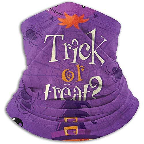 Overlooked Shop Carta di Halloween con scaldacollo in pile invernale per bambini simpatico cartone animato, tubo spessa guaina lunga