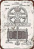 WallAdorn 1888 Nicola Tesla Electro Magnetic Motor Patent