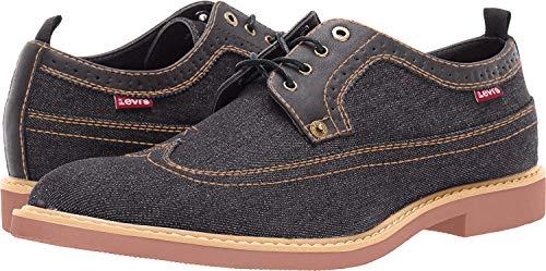 Levi's Mens Tindal Casual Denim Wingtip Oxford Shoe