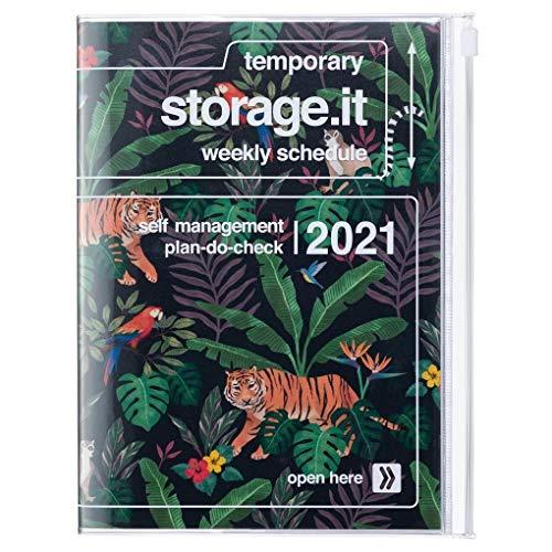 MARK'S 2020/2021 Taschenkalender A5 vertikal, Storage.it, Jungle Black.