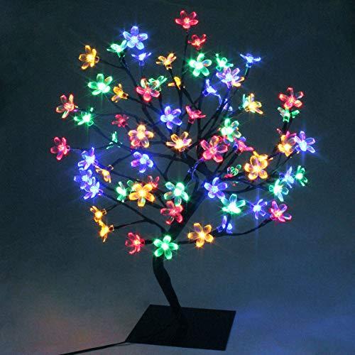 45cm Albero Luminoso Decorativo Lampada Fiori di Ciliegio con72Luci Natalizie a LED,TavoloLuceBonsai,per Decorazione della Casa, Festa, Natale, Matrimonio, Compleanno, Interno (Multicolore)