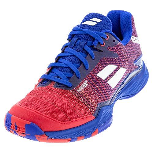 Babolat Jet Mach II All Court Men, Chaussures de Tennis Homme, Poppy Red Estate Blue, 43 EU