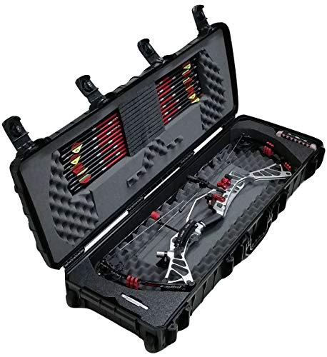 Case Club Waterproof Pre-Cut Parallel Limb Compound Bow Case with Silica Gel to Help Prevent Rust…