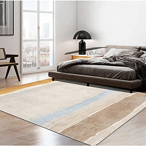 Alfombra Alfombra para habitacion Brown Azul Minimalista Alfombra Anti-Patinaje Suave salón. alfombras de Salon Decoracion Cuarto Adolescente 60*160cm