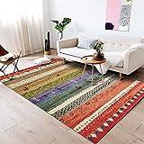 AYVOGUE Área Alfombra Sala de Estar Alfombra Marruecos Moderno Simple Geométrico Dormitorio de Dibujos Animados Manta de cabecera Color Rectangular, 80 * 160 cm