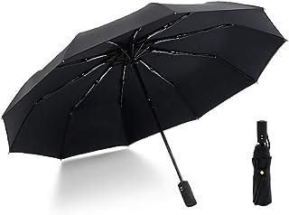 4EVERHOPE Windproof Regenschirm, Doppelschicht-automatischer Reise-Regenschirm DREI faltender Geschäfts-Antiwind 10 Knochen-vergrößerter Regenschirm für Mann und Frau
