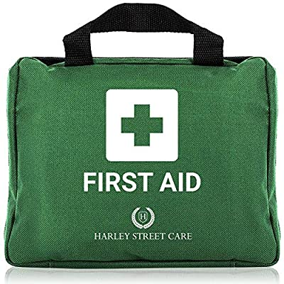 103 Pieces Harley Street Care Professional First Aid/Emergency Kit. Comprehensive, Compact & Durable for Health & Safety, Includes Eye Wash, Cold Packs, Emergency Blanket for Home, Car, Work, Travel by Harley Street Care