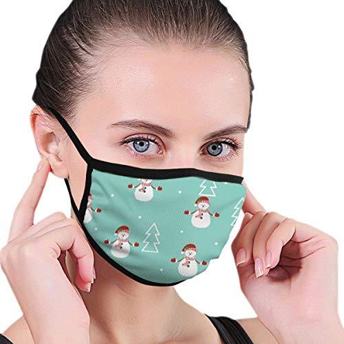 Schneemann und Weihnachtsbaum Jungen und Mädchen drucken halbes Gesicht waschbar wiederverwendbarer Mundschutz zum Malen