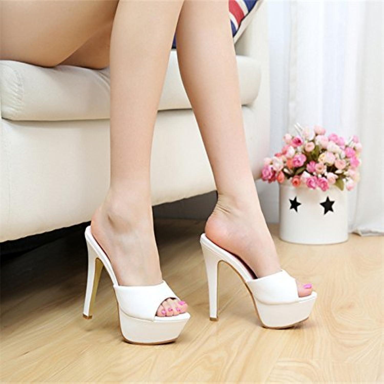 HhGold Sommerfrauen-Flipflops High Heel fineHigh Heel Heel Heel wasserdicht (Farbe   Weiß 12 cm, Größe   6 US 36 EU 3.5 UK)  9c7117