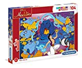 Clementoni- Disney Aladdin Puzzle Suelo, 104 Piezas, Multicolor, 104pezzi (27283)