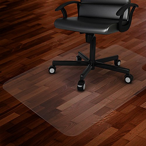 """Azadx Clear Office Chair Mat 36'' X 48'', Durable Desk Chair Mat for Hardwood Floor, Heavy Duty Plastic Office Floor Mat Under Rolling Chairs for Easy Glide and Protection (36"""" X 48"""" with Lip)"""