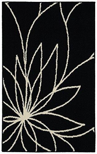 Garland Rug Grand Floral Area Rug, 30 x 46, Black/Ivory