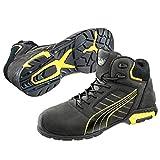 Puma Safety - Zapatos unisex, color negro/amarillo/blanco/gris, talla 43