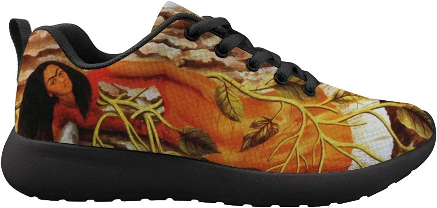 Owaheson Cushioning Sneaker Trail Running shoes Mens Womens Mexican Female Painter Frida Kahlo Lying Down Tree of Life