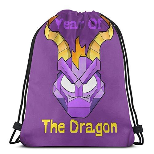Spyro Years Of The Dragon Sport Sackpack Zaino con coulisse Borsa da palestra