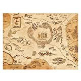 CAOHD Camelot Map King Arthur Art Film Print Silk Poster Home Wall Decor for Living Room Decor Great Gift Print On Canvas-60X90Cm No Frame