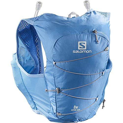 Salomon Active Skin 8 Set Chaleco 8L Mujer 2x Soft Flasks Incluidas Trail Running Senderismo