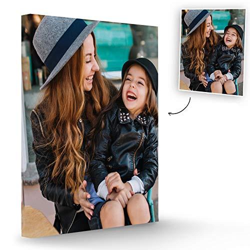 Fotoprix Lienzo Personalizado con Foto | Regalo decoración casa | Cuadro personalizado con foto y lienzo de fotos en varios tamaños disponibles (50 x 70 cms)