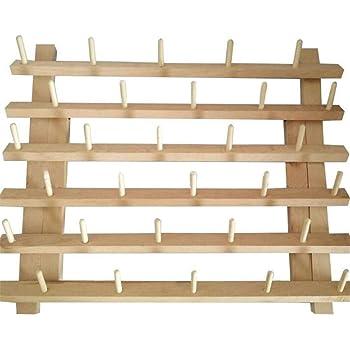 Zusammenklappbares Fadenregal Holz Fadenhalter 63 Spulen Faden Holz Lagerregal Fadenspule St/änder N/ähkegel Aufbewahrung Organizer N/ähen Quilten Stickerei Spule Orgainzer /& Gestell N/ähen Handwerkzeuge