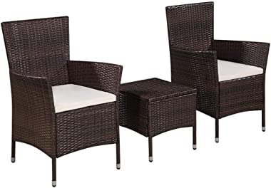 yeacher Garden Sofa Set with Cushions & Pillows Poly Rattan Gray,Pack of 7