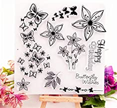 Butterfly Wishes Transparent Clear Stamp Silicone Seal Roller DIY Album Card Production Photo Album Decorative Stamps