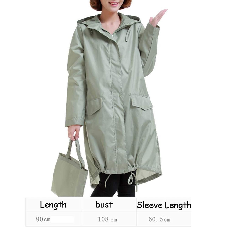レインコート レインポンチョ 携帯用女性用レインコート、屋外乗馬用ポンチョ ZHANGQIANG (色 : Grass green, サイズ さいず : One size)