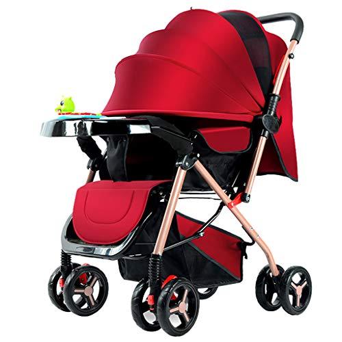 SHJMANST Seguridad Cochecito de Bebé, Sistema de Arnés de 5 Puntos, Respaldo Reclinable Silla de Paseo, Plegable Ligera y Practica (hasta 25 kg) Silla, Red ✅