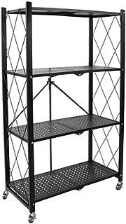 KOKOF Étagère Étagère de Cuisine Étagère Pliante pour la Maison Rack de Stockage en Fer forgé Rack en métal Multifonctionn...