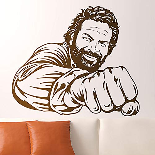 zqyjhkou Fototapete Bud Spencer Berühmte Berühmte Italienische Comedian Schauspieler Porträt Vinyl Deco Humorvolle Wanddekortion58x68cm