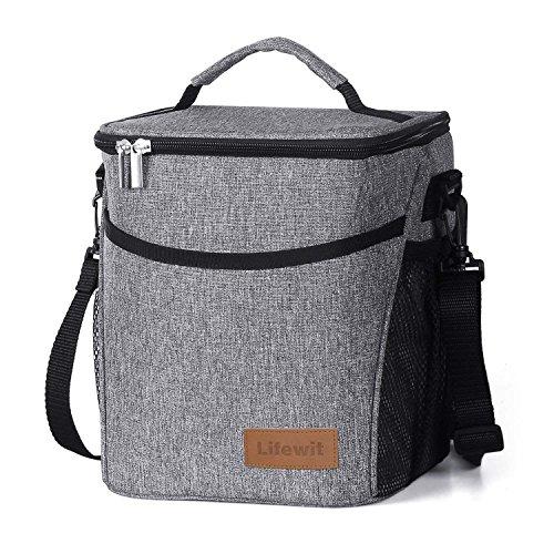 9L 12 Dosen Isolierte Picknick-Lunchpaket mit Flaschenhalter für Erwachsene/Männer/Frauen/Kinder, wasserdichter auslaufsicherer weicher Kühltasche Thermo-Bento-Box für Arbeit/Schule/Outdoor-