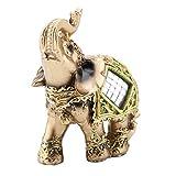 Qiilu 象 ゾウ 彫刻象 象の置物 風水グッズ 樹脂 ラッキーコレクティブル 手工芸品 装飾品 かわいい動物 ホーム オフィス お店 レストラン 約8.5×4.5×9cm (小)