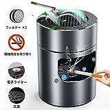 空気清浄機 BASSTOP 脱臭機 イオン発生器 充電式空気清浄 パーソナル 卓上 スモークレス灰皿 高性能フィルター搭載 2階段風量切れ USB充電式 タバコの煙を吸い取り 家族の健康を守ります 12ヶ月品質保証 日本語説明書付き