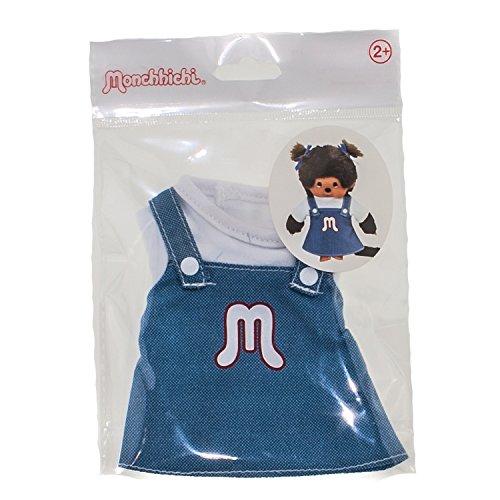 Monchhichi Kleidung für Standard Monchichi 20 cm - Verschiedene Designs (Kleid Blau Weiß)