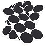 Adsamm®   40 x almohadillas de fieltro   Ø 50 mm   negro   redondo   Protectores de suelo para patas de mueble   auto-adhesivos   con grosor de 3,5 mm de la máxima calidad