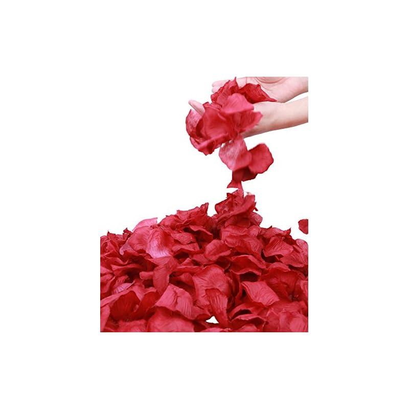 silk flower arrangements jasmine 1000 pieces dark red non-woven rose petals artificial flower petals for wedding confetti valentine day flower deor,dark red
