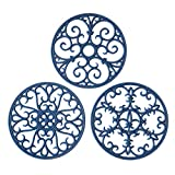 Silicone Trivet Mat - Hot Pot Holder Hot Pads for Table & Countertop - Teapot Trivet Kitch...