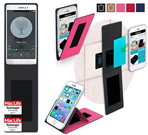 reboon Hülle für Oppo R5 Tasche Cover Case Bumper | Pink | Testsieger
