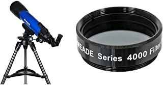 Meade Instruments 209006 Infinity 102mm AZ Refractor Telescope &  Instruments Series 4000 MoonFilter: ND96