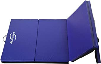 "Bloodyrippa 2"" Thick 4-Panel Folding Gymnastics Tumbling Mat with Carry Handles for MMA, Gymnastics and Home Gym Protective Flooring, 10'x4'/8'x4'"