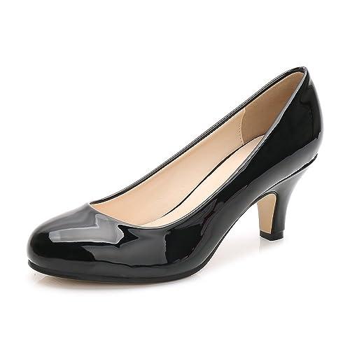 d766af68e29 Black Patent Heels: Amazon.co.uk